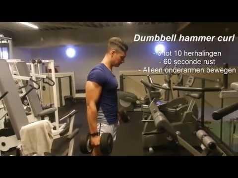 Hoe krijg ik grote gespierde biceps en onderarmen | Workout met Dario