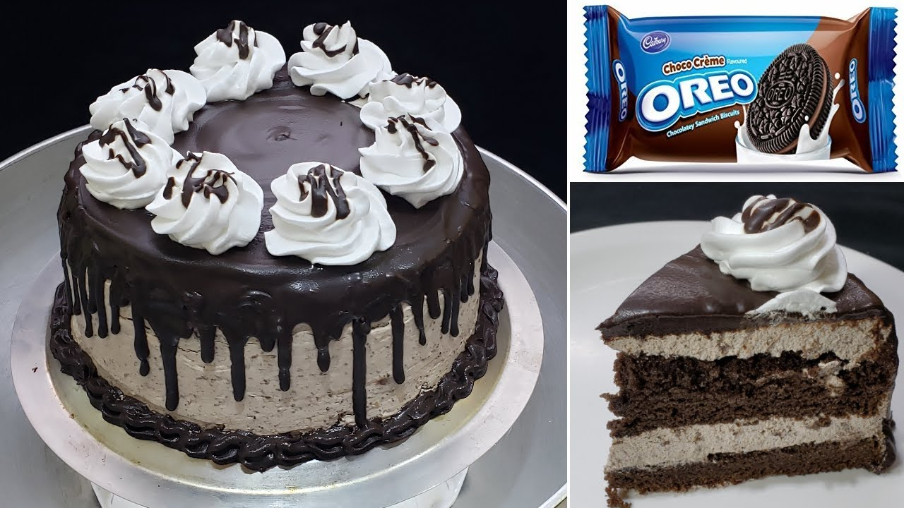 सॉफ्ट और स्पंजी OREO चॉकलेट बर्थडे केक बिना अंडा बिना ओवन | Easy Chocolate Cake Recipe | Easy Cake