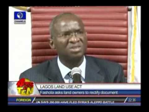 Lagos Land Use Act:Fashola asks land owners to rectify document