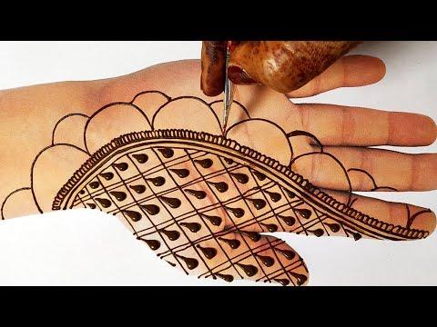 Simple Stylish Mehndi Design - New Mehndi front Hands 2019 - आने वाले तीज,त्यौहार के लिए आसान मेहँदी