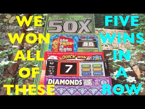 WOW WE WON EVERY SCRATCHER!! Diamonds / 7 11 21 / Quick Win Bingo / Price Is Right / 50X The Money