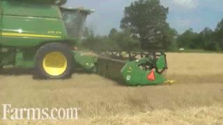 Wheat Harvest at Blaney Grain Farms John Deere 9770 STS. Farms.com Harvest Watch