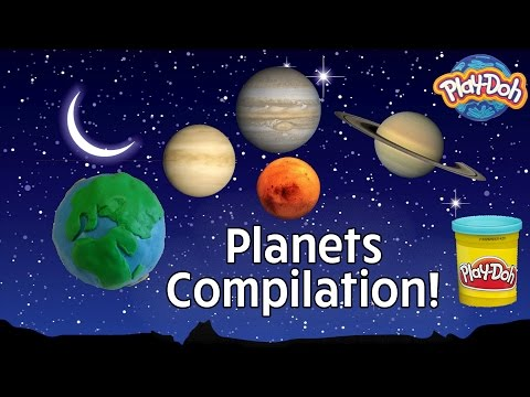 Make Your Own... | Play Doh Planets Compilation - Play Doh Universe Planets Series
