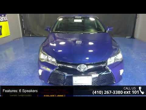 Toyota Of Annapolis >> 2015 Toyota Camry Se Annapolis Car Center Annapolis