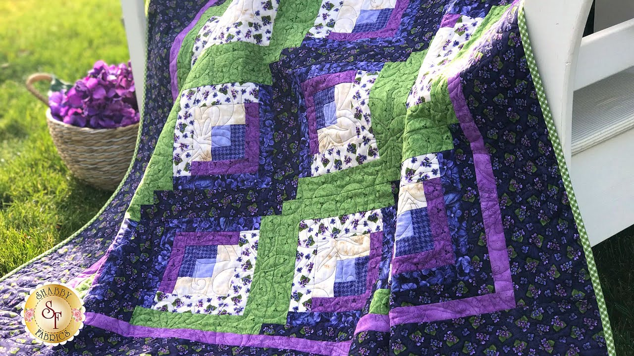 How To Make A Curvy Log Cabin Quilt Block A Shabby Fabrics Quilting Tutorial Youtube