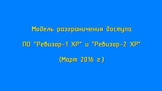 ПО  Ревизор 1 XP + Ревизор 2 XP(Создание модели разграничения доступа программой