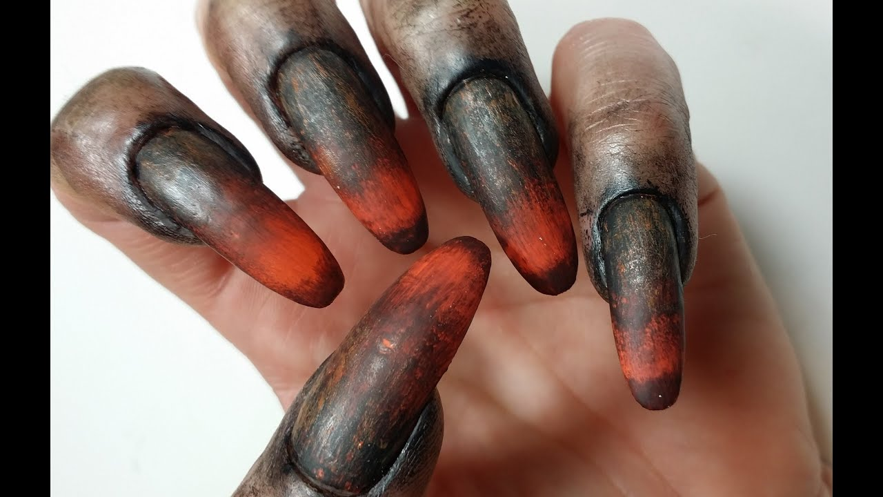 Halloween Nail Art Design Special FX Werewolf Claws ...
