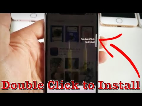 How to download apps on iphone x double tap
