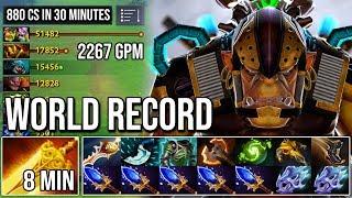 WTF 880 Last Hits in 30 Minutes ? - NEW World Record 2267GPM Alchemist Ez Farm Like a Hacker DotA 2