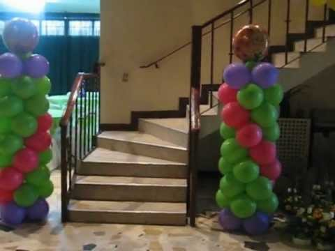 Decoraciones con globos magicolores 3 a os ni a youtube for Decoracion cuarto para nina 3 anos