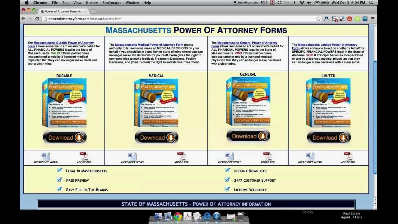 Power of attorney form massachusetts youtube power of attorney form massachusetts falaconquin