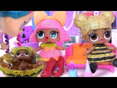 Куклы Лол Сюрприз! Игрушки из Плей До и Ванна своими руками -  Lol мультик! Shopkins Видео для детей