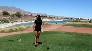 Las Vegas GIRLS  teaching Sexy Golf Lessons    - brought to you by RawTeams.com!!!!
