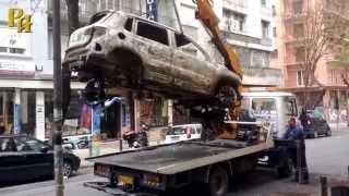 Что осталось от сгоревшего 7 апреля автомобиля