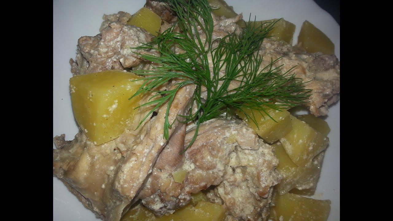 Очень Вкусный Кролик в Сметане с Картошкой|рецепт как приготовить кролика в сметане