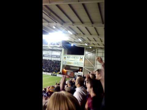 Huddersfield Giants fans at warrington 27/3/2015