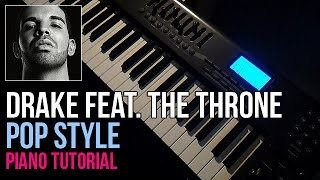 How To Play: Drake feat. The Throne (Kanye West & Jay-Z) Pop Style (Piano Tutorial)