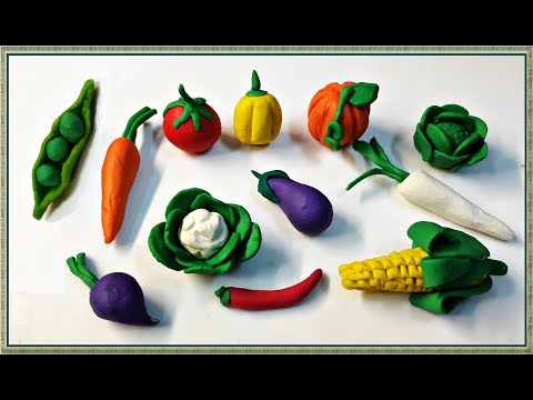 How to make vegetables with Playdough / Modelling Clay  !!  DIY clay ideas