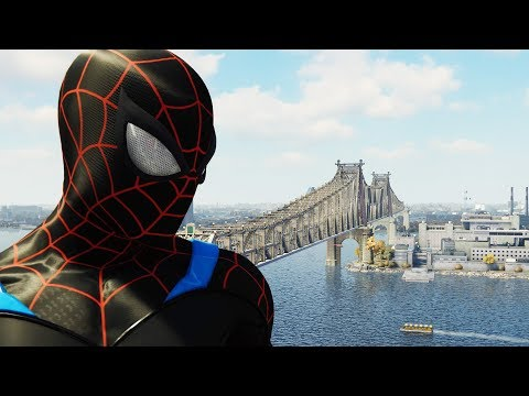 Spider-man PS4 New Suit - Spider-man Black Suit Walkthrough | Superhero FXL Gameplay