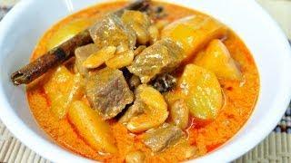Thai Food - Massaman Beef Curry (gang Massaman Nuer)