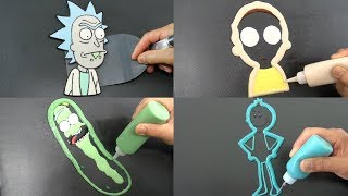 Rick and Morty Pancake Art - Rick, Morty, Pickle Rick, Mr Meeseeks