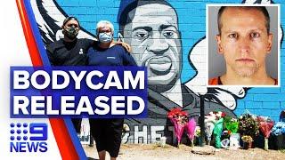 Police bodycam footage of George Floyd   9 News Australia