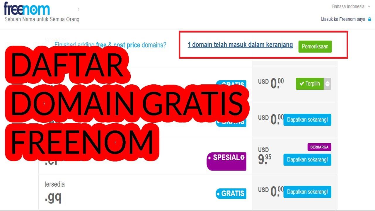 cara mendapatkan domain gratis freenom