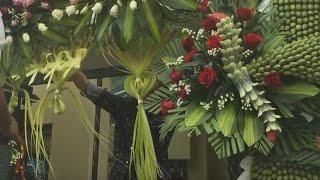 Hướng dẫn làm rèm cửa bằng lá dừa - Cổng Cưới rồng phụng Miền Tây