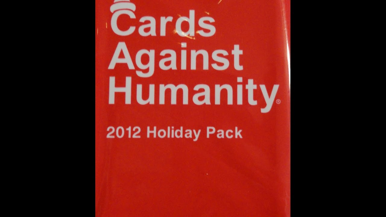 What\'s Inside - Cards Against Humanity 2012 Holiday Pack - YouTube