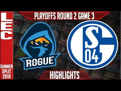 RGE vs S04 Highlights Game 3 | LEC Summeer 2019 Playoffs Quarterfinals | Rogue vs Schalke 04