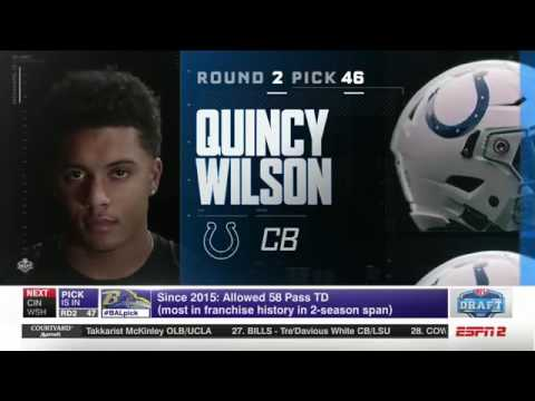 NFL Draft | Adam Shaheen to Bears(45), Quincy Wilson to Colts(46), Tyus Bowser to Ravens(47)