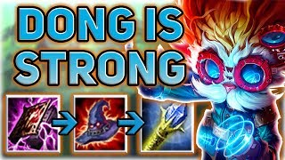 FEAR MY DONG!! HOW DID I NEVER KNOW HOW STRONG THIS IS?! HEIMERDINGER MID SEASON 7!  - Patch 7.14