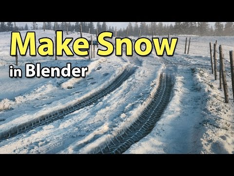 How to make Snow in Blender (Cycles)