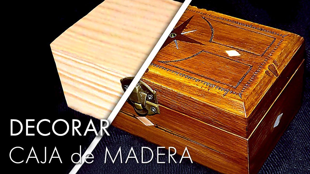 C mo decorar una caja de madera tutorial f cil paso a - Como hacer una caja de madera paso a paso ...