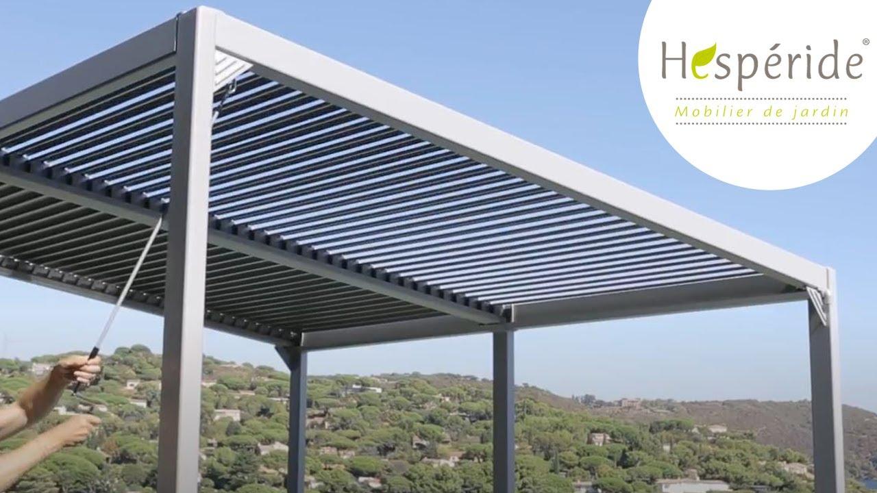 Tonnelle Avila Hespéride avec toit en lamelles réglables