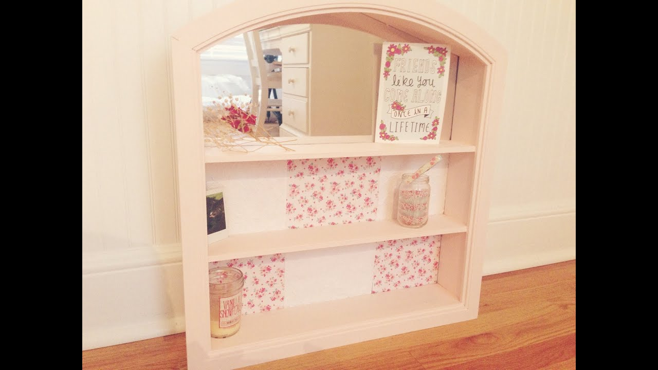 diy shabby chic shelf youtube. Black Bedroom Furniture Sets. Home Design Ideas