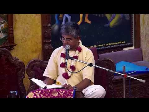 Srivas Thakur Prabhu Lecture on Being Detached But Responsible In Family Life  at ISKCON Chowpatty