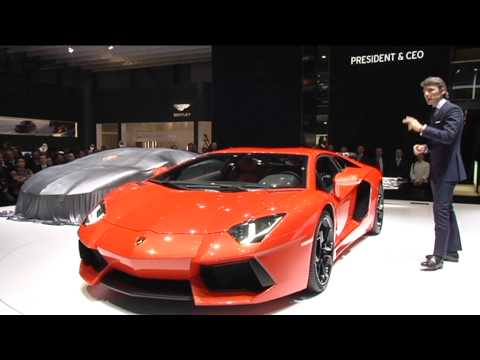 Lamborghini Press Conference - Stephan Winkelmann present new Lamborghini Aventador