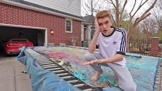 THE TRAMPOLINE IS RUINED! (RIP)