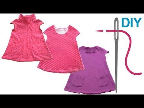DIY Kleid/Tunika nähen für Anfänger – Kinderkleid oder Tunika ...