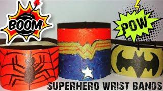 Superhero Wrist Bands - Toilet Roll Wrist Bands - Easy kids crafts - superhero accessories