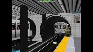 OpenBVE TTC H4 Departs Sherbourne On It