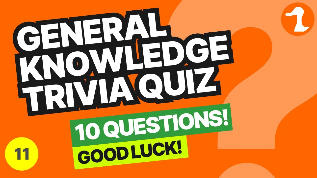 General Knowledge Trivia Quiz 10 Multiple Choice - YouTube