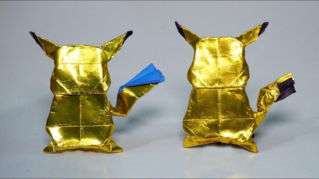 Paper POKEMON - Easy Origami Pikachu tutorial - DIY (Henry Phạm ... | 720x1280