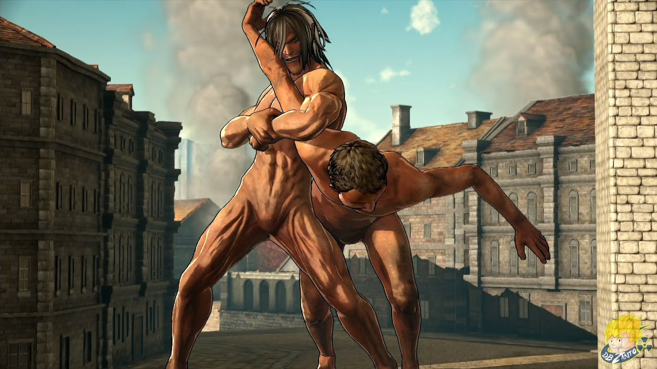 Attack On Titan Wings Of Freedom Eren Yeager Titan Form Gameplay Full Hd Youtube