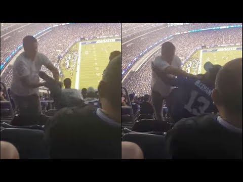 See Giants Fan Puke on Another, FIGHT Erupts!