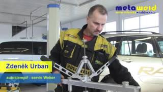 Vytahovací páky na opravy karoserií