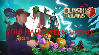 *CLASH OF CLANS* (HALLOWEEN UPDATE 2018) REVIEW/REACTION