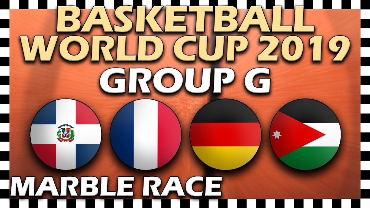 World Cup Basketball 2019 FIBA - Group G - Marble Race Algodoo