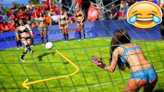 Football funny videos #86 ● women soccer girls fails ● comic moments vines 2017 ● goals ● skills